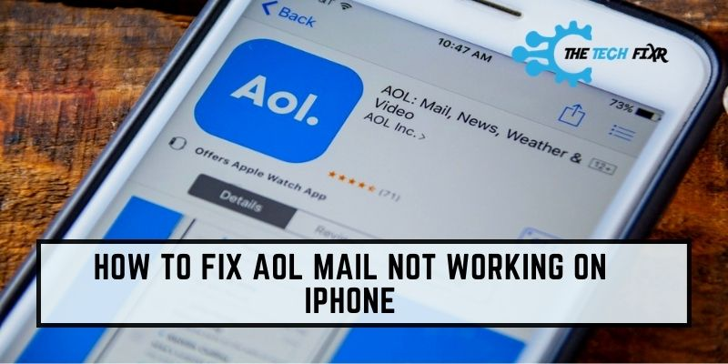 how to fix aol mail not working on iphone