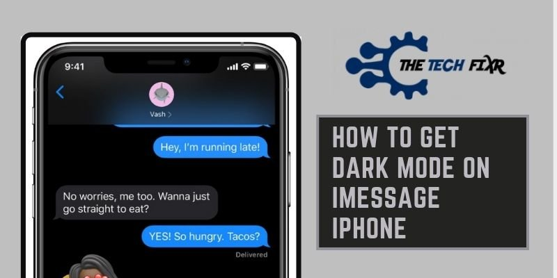 how to get dark mode on imessage iphone