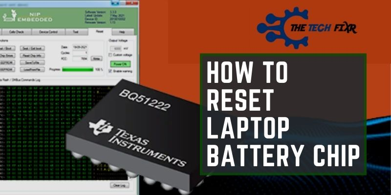 How To Reset Laptop Battery Chip