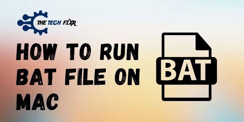 How To Run Bat File On Mac