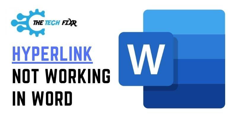 Hyperlink Not Working in Word
